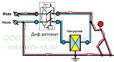 Дифференциальные автоматы. схема подключения